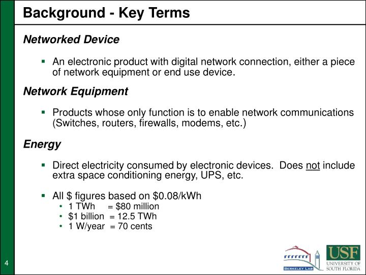 Background - Key Terms