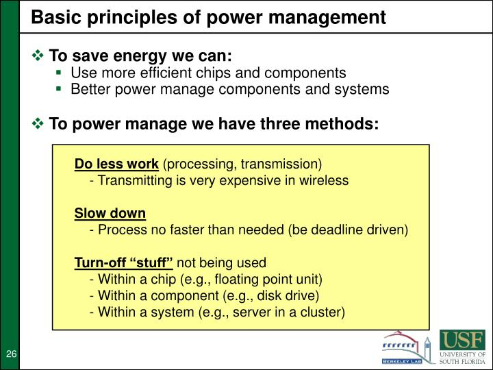 Basic principles of power management