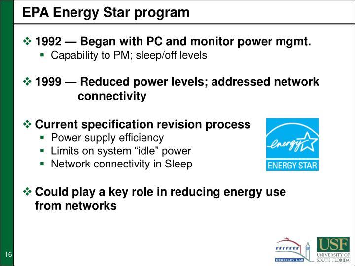 EPA Energy Star program