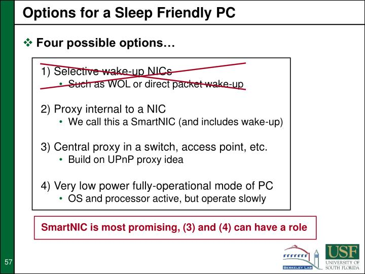 Options for a Sleep Friendly PC
