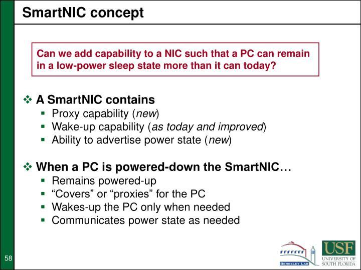 SmartNIC concept