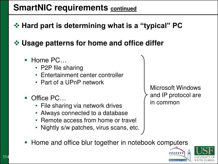 SmartNIC requirements