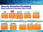 security breaches escalating highly advanced persistent cyber threats