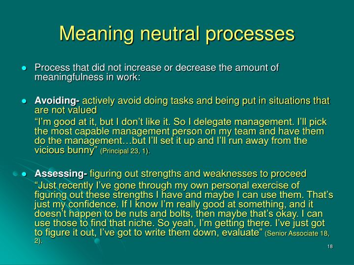 Meaning neutral processes