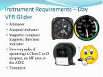 instrument requirements day vfr glider