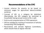 recommendations of the cvc