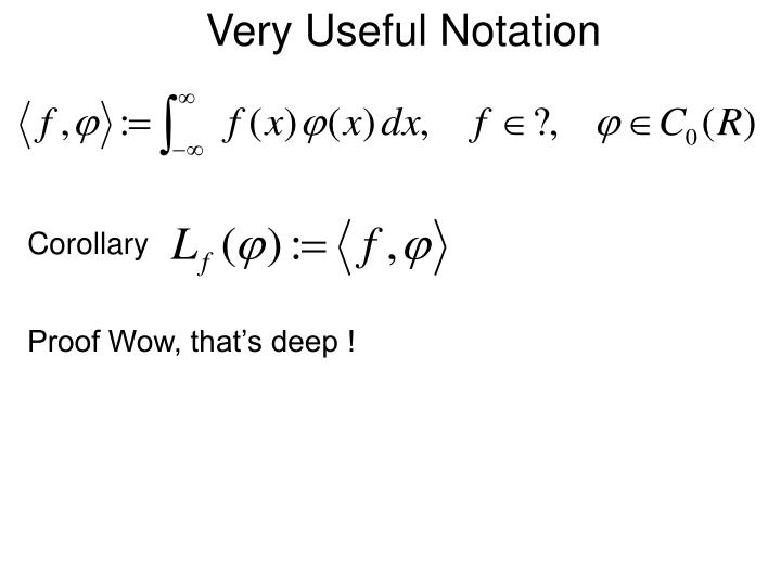 Very Useful Notation
