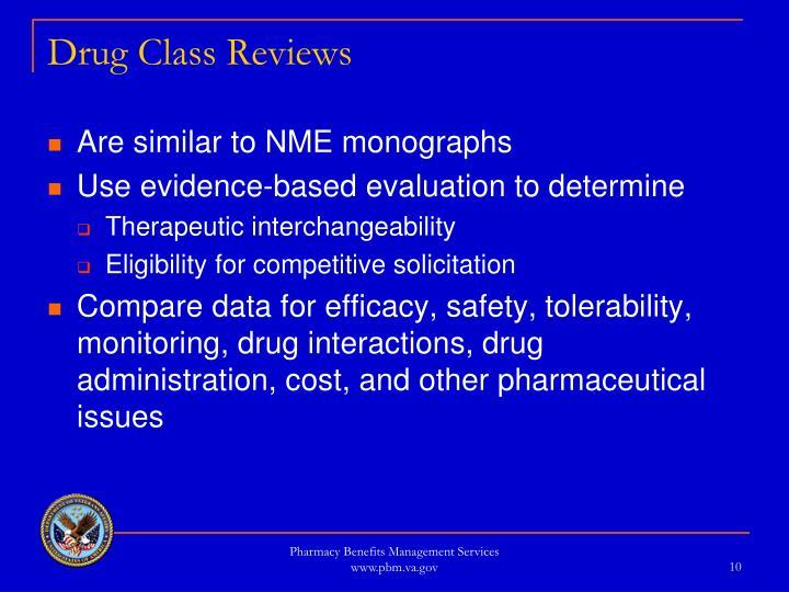 Drug Class Reviews