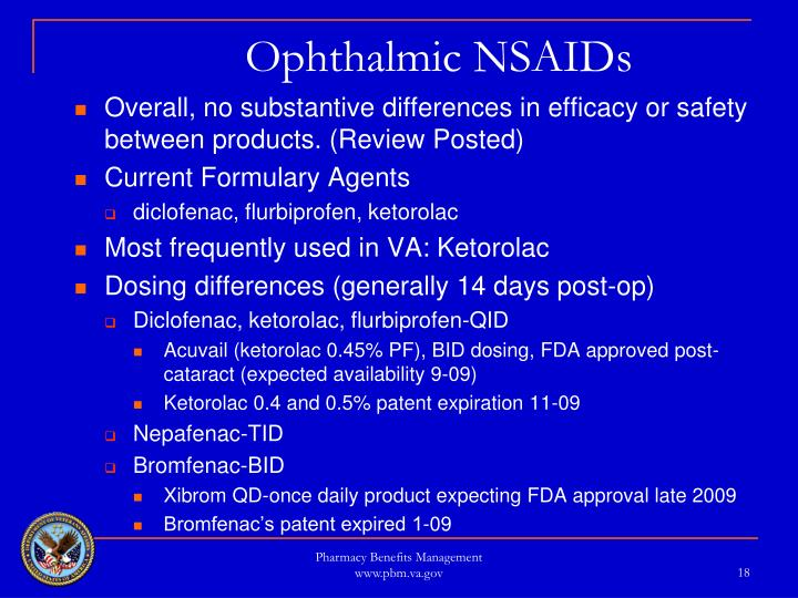 Ophthalmic NSAIDs