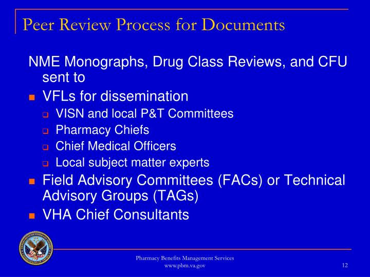 Peer Review Process for Documents
