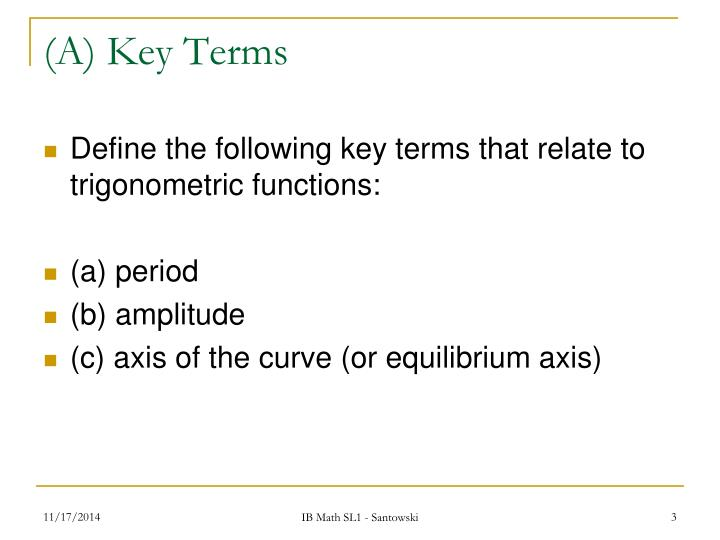 A key terms