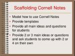 scaffolding cornell notes