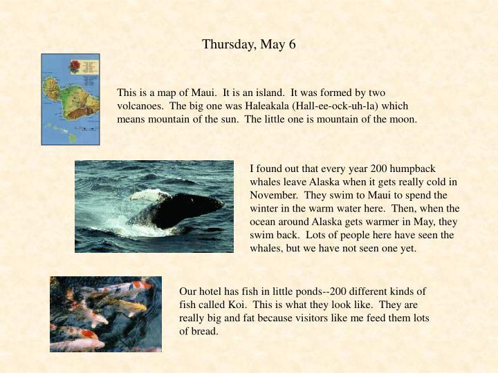 Thursday may 6