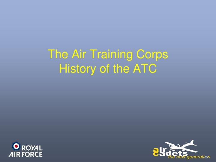 the air training corps history of the atc n.