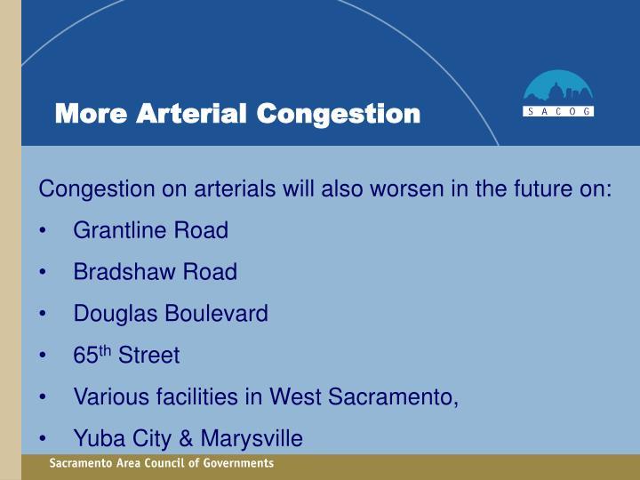 More Arterial Congestion