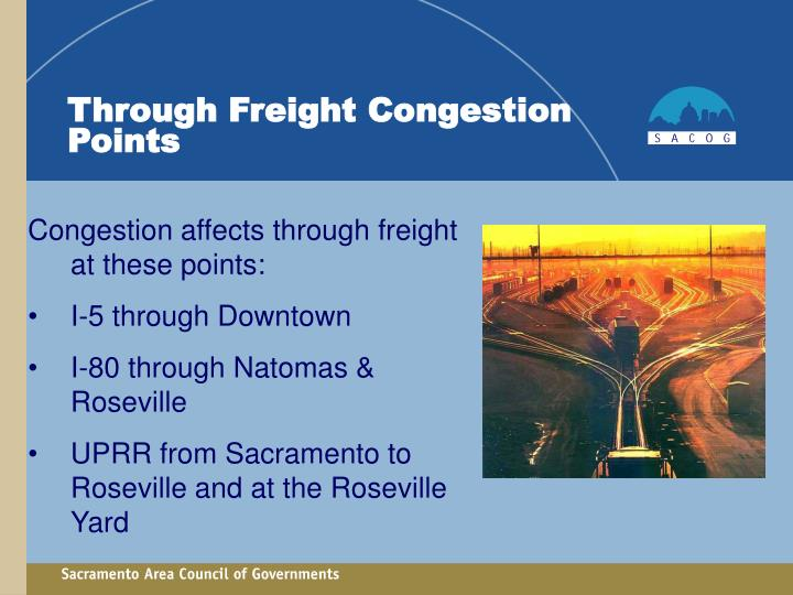 Through Freight Congestion Points