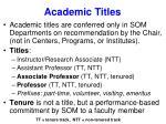 academic titles