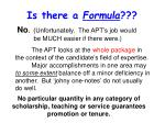 is there a formula
