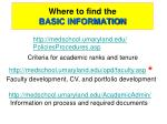 where to find the basic information