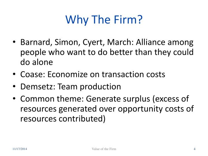 Why The Firm?