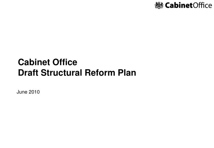 Cabinet office draft structural reform plan