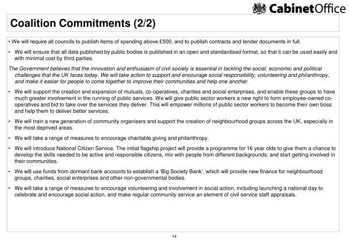 Coalition Commitments (2/2)
