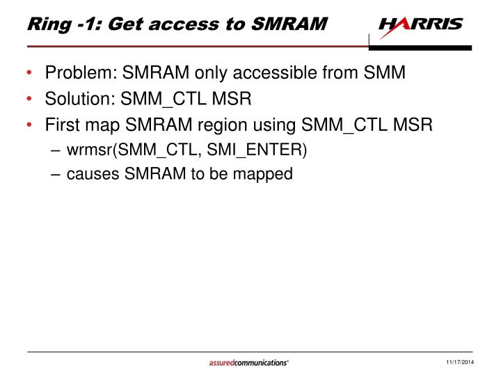 Ring -1: Get access to SMRAM