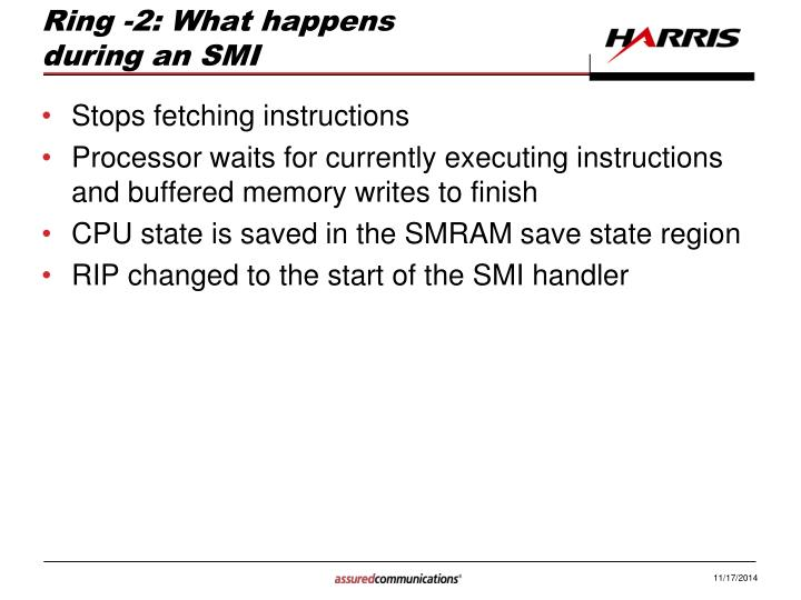 Ring -2: What happens during an SMI