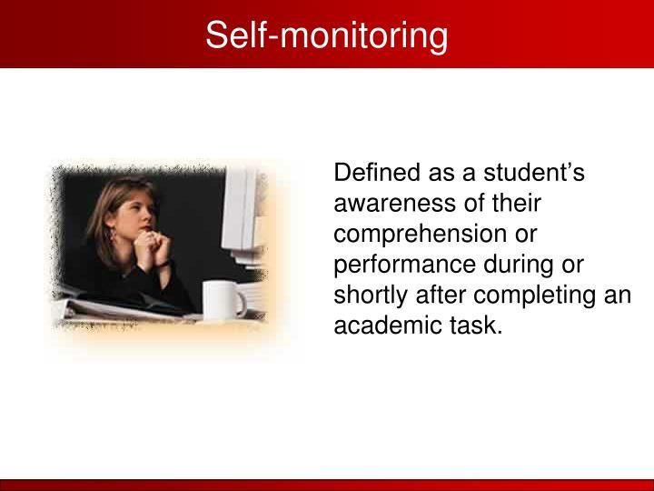 Self-monitoring
