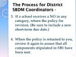 the process for district sbdm coordinators1