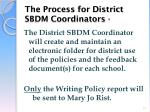 the process for district sbdm coordinators4