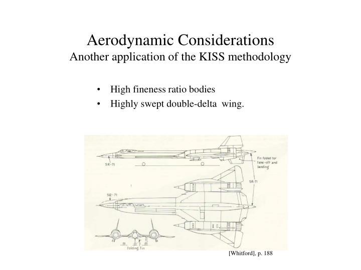 Aerodynamic Considerations