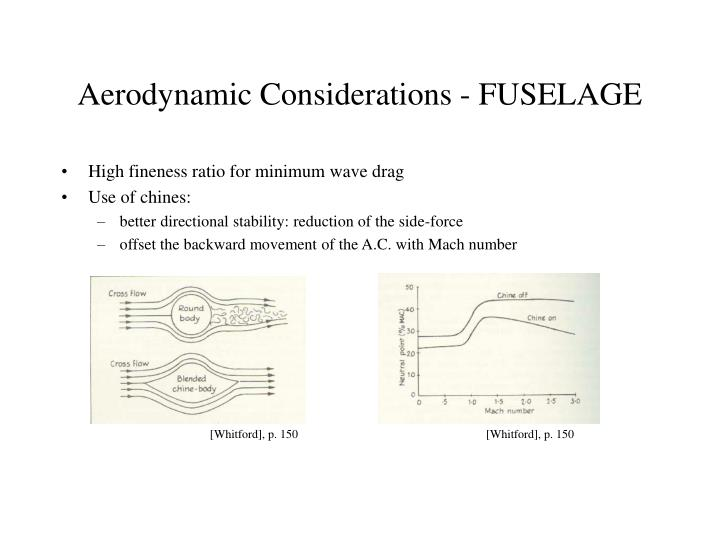 Aerodynamic Considerations - FUSELAGE