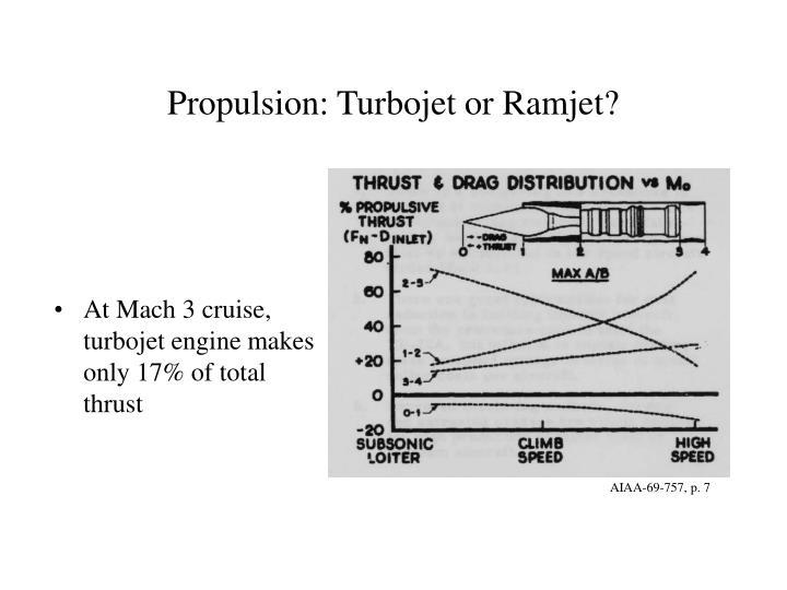 Propulsion: Turbojet or Ramjet?