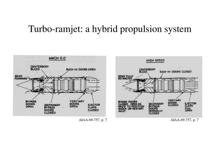 Turbo-ramjet: a hybrid propulsion system