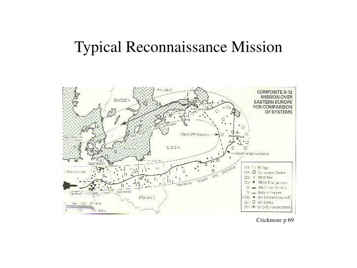 Typical Reconnaissance Mission