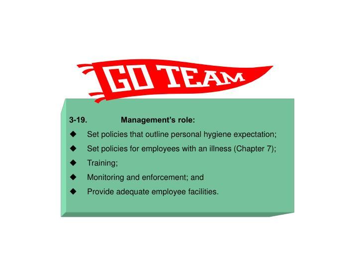 3-19.               Management's role: