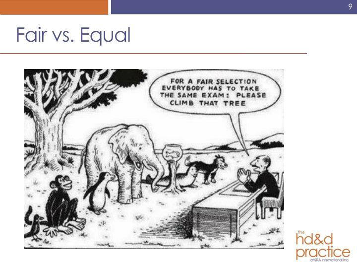 Fair vs. Equal