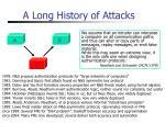 a long history of attacks