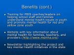 benefits cont