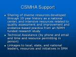 csmha support