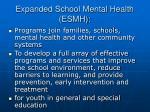 expanded school mental health esmh