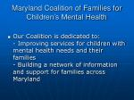 maryland coalition of families for children s mental health