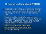 university of maryland csmha