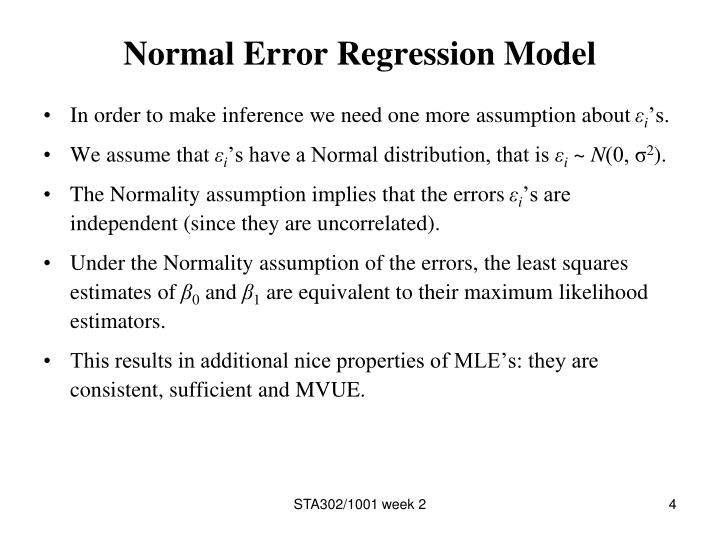 Normal Error Regression Model