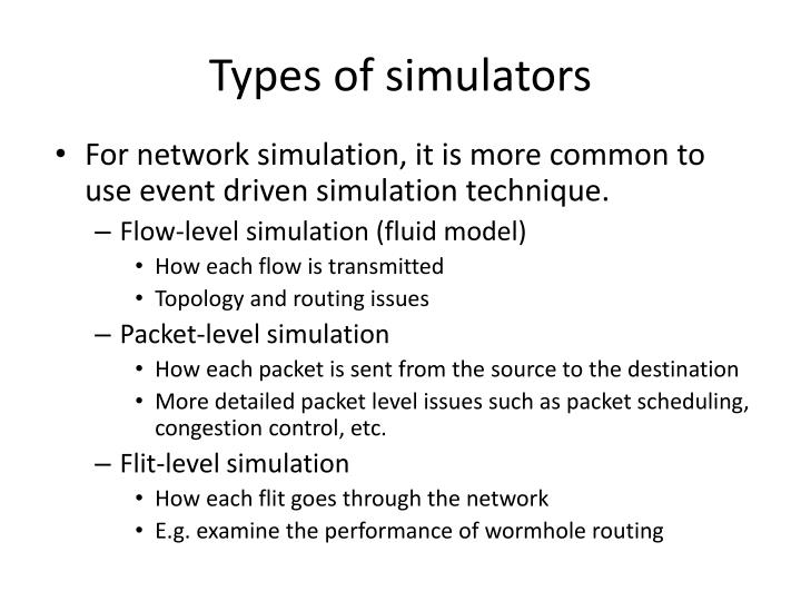 Types of simulators