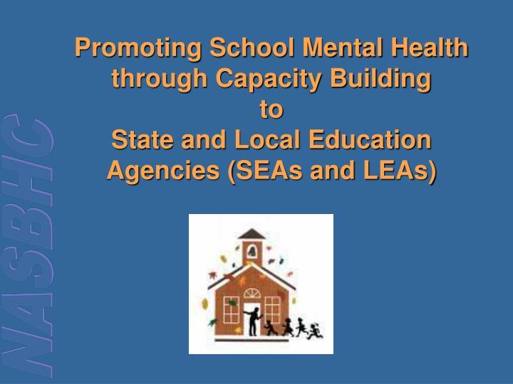Promoting School Mental Health through Capacity Building