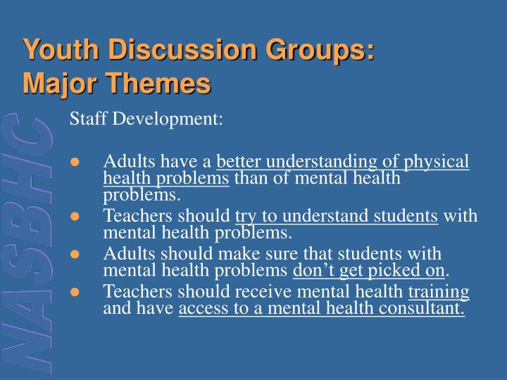 Youth Discussion Groups: