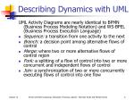 describing dynamics with uml