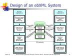 design of an ebxml system